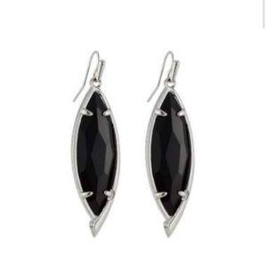 Kendra Scott black and rhodium maxwell earrings